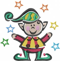 Elf And Stars embroidery design