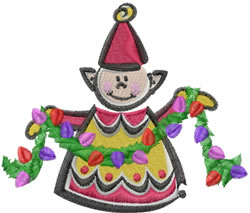 Holiday Elf embroidery design