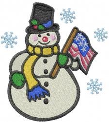 USA Snowman embroidery design
