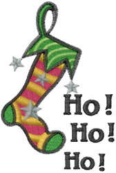 Ho Ho Ho Stocking embroidery design