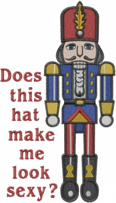 Sexy Nutcracker embroidery design