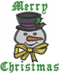Snowman Christmas embroidery design