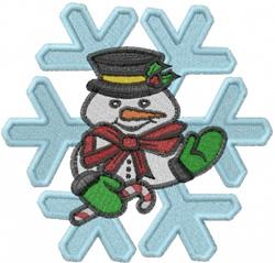 Snowflake Snowman embroidery design