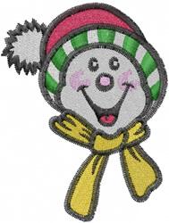 Happy Snowman embroidery design