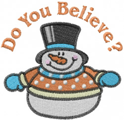 Do You Believe? embroidery design