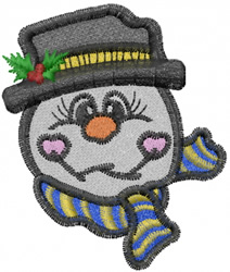 Silly Snowman embroidery design