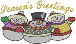 Snowman Group embroidery design