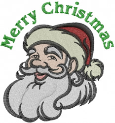 Merry Santa embroidery design