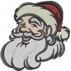 Santa Face embroidery design