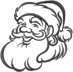Santa Outline embroidery design