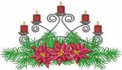 Christmas Centerpiece embroidery design