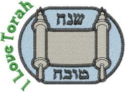 I Love Torah embroidery design