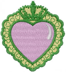 Heart Symbol embroidery design