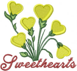 Sweetheart Flowers embroidery design