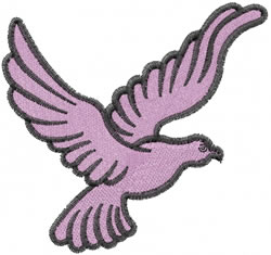 Dove Flying embroidery design