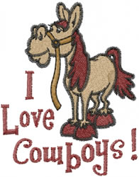 Love Cowboys embroidery design
