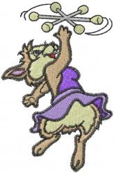 Majorette Bunny embroidery design