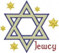 Star of David – Jewcy embroidery design