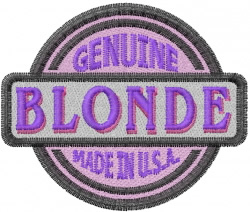 Genuine Blonde embroidery design