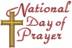 Day Of Prayer embroidery design