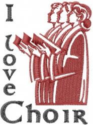I Love Choir embroidery design