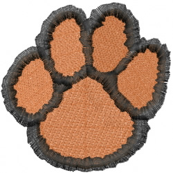Lion Paw embroidery design