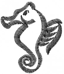 Seahorse Outline embroidery design