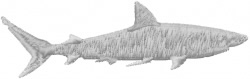 Shark Side View embroidery design