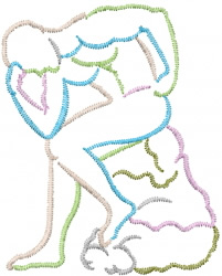 Thinker Outline embroidery design