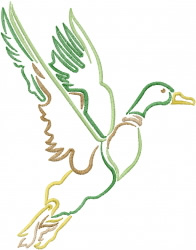 Mallard Duck embroidery design