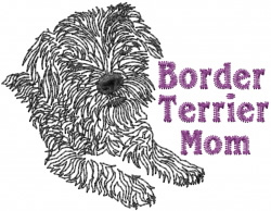 Border Terrier Mom Embroidery Designs Machine Embroidery