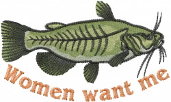 Want Catfish embroidery design