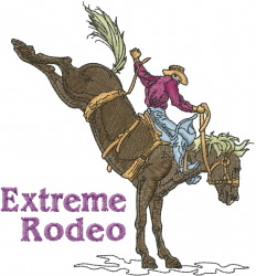 Extreme Rodeo embroidery design