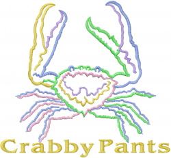 Crabby Pants embroidery design