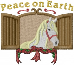 Peace Horse embroidery design