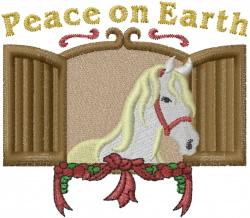 Peace Horse embroidery design