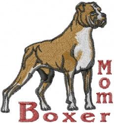 Boxer Mom embroidery design