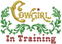 Cowgirl In Training embroidery design