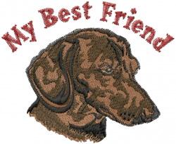 My Best Friend embroidery design