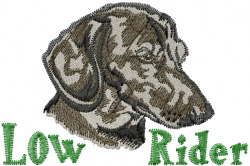 Low Rider embroidery design