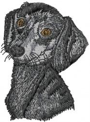 Dachshund Head embroidery design