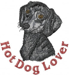 Hot Dog Lover embroidery design