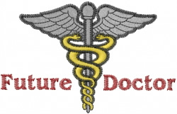 Future Doctor embroidery design