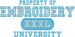 Embroidery University embroidery design
