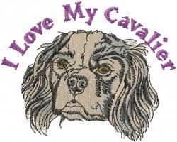 My Cavalier Spaniel embroidery design