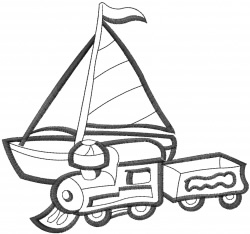 Outline Toys embroidery design