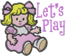Playful Doll embroidery design