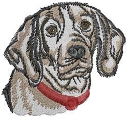 Beagle Face embroidery design