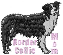 Border Collie Mom embroidery design