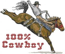 100% Cowboy embroidery design